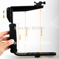 armed flash bracket - Camera Flash Bracket Grip Camera Flash Arm Holder stand shade bracket brand new hot