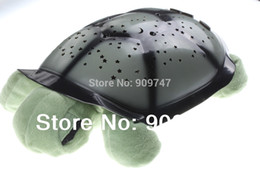 Wholesale New hot Turtle Led nightlight Music projector Colors Songs star lamp for Children gift comfortable lighting with retail box