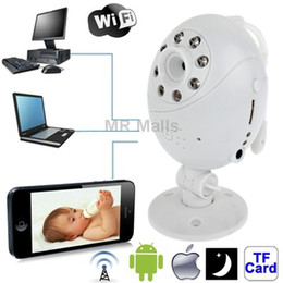 Wholesale Wifi Point to point with Infrared Night Vision Light Record Monitoring for iOS and Android above and Computer White