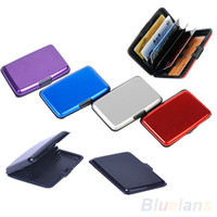 metal business card case - 7colors Waterproof Business ID Credit Card Wallet Holder Aluminum Metal Case Box BMX