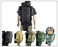 Wholesale Tactical Military USMC Army Molle Extended Full Gear Combat Dual Shotgun Paintball Rifle Backpack For Hunting Fishing Camping
