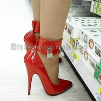 Wholesale custom Sexy High Heel Pump Lock And Key quot High Heel plus size shoes through