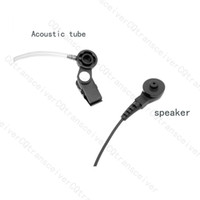 Wholesale Hands Free Clear Tube Earpiece Microphone for Motorola Handheld Radio GP344 GP388 GP328 plus