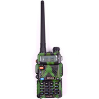 army antenna - Hot Army Green Portable Pofung UV R Walkie Talkie Set Mhz UHF VHF Ham Two way Radio with Dual Band Antenna
