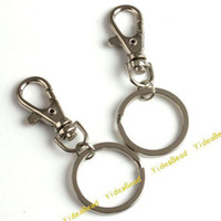 Wholesale 20 Fashion Copper Key Chains Key Rings Rhodium Plated With Lobster Clasp accessories Fit Key