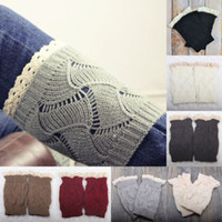 acrylic trim - Luxury Lady Hollow Crochet Knitted Lace Trim Boot Cuffs Toppers Liner Leg Warmer