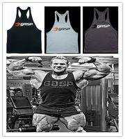 Wholesale Men s Big Muslce GASP Gym Vest Fitness Bodybuilding Workout Sport Tank Tops Sportswear Cotton M XXL