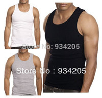 beater tank - Hotsale New Muscle Men Casual Tops Quality A Shirt Wife Beater Ribbed Premium Solid Sleeveless Tank Top