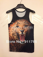 beach tank tops for men - 2015 personality sexy D Animal tank tops for men sleeveless tight D chaleco men casual slim beach Sports fitness colete tees