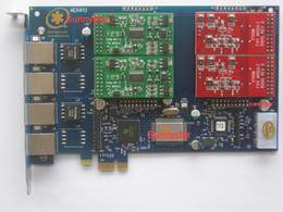 Wholesale AEX410 PCI E Asterisk card TRIXBOX IP PBX ZAPTEL FXO FXS PCI Express analog card