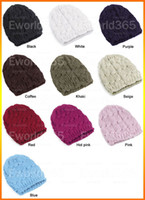 Wholesale 2015 Winter Fashion New Ladies Hast For Women Cable Knit Knitted Crochet Beanie Hat Cap