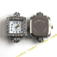 Wholesale 4 Watch Face watch Case Accessories Square Face Carved Flower Inlay Rhinestone Have stock