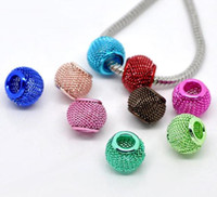 Wholesale 100pcs Mixed Mesh Spacer Beads Fit Charm Bracelet x10mm