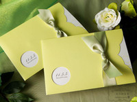 Wholesale 50PCS LIGHT BEAN GREEN WEDDING INVITATION CARDS WEDDING FAVORS WEDDING SUPPLIES YW1112