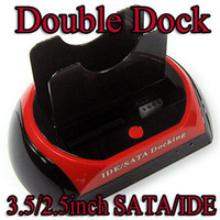 Wholesale Dual twin Double IDE SATA HDD dock Docking station External hdd enclosure
