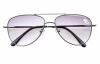 aviator reading glasses - Grey Lens Aviator Style Metal Frame Spring Hinges Reading Glasses Sun Readers Men R1502