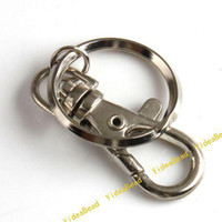 key ring - 20pcs Metal Key Ring Chains Make Key Chain Rings with Swivel Lobster Clasp Fit Car Keys