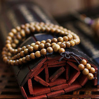 Cheap Hot! Fashion Vintage Wenge Natural Wood 6MM Beads Stretch Wooden Bracelet Men handmade 108 Buddha Bracelets & Bangle Gift Charm