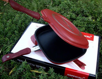 Wholesale New happy call happy cook fry pan non stick pan Handy Frying Pan Double Side Grill Pan