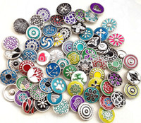 Wholesale new whole mm small button sale mix styles colors interchangeable ginger snap button charm snap jewelry freeship