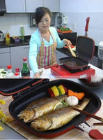 Wholesale Korean Double Side Fried Pan happy call happy cook fry pan non stick pan Handy Frying Pan