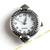 Wholesale 10 NEW Fashion Styles Silver Tone Watch Face For Jewelry Making Findings