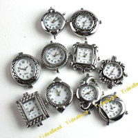 Wholesale 20pcs Mixed Assorted NEW Fashion Styles Silver Tone Watch Face For Jewelry Making Findings