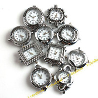 Wholesale 10 Assorted design Carved Watch Face li ion battery Watch Case Accessories gift Have stock