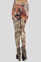 american apparel spandex - European New Women Sexy Print Leopard Tattoo Faux Jeans Legging Trousers Female Sport Punk Fitness American Apparel Pants