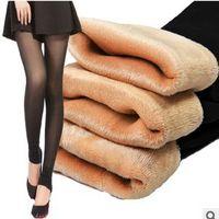 american apparel mesh - winter warm leggings american apparel plus size thick velvet black pants sexy step anti hook wire mesh winter pants for women
