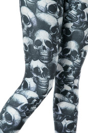Wholesale Leggings Women BlacK Milk Legging Pants Punk Dark Skulls Leggings Clothing Women Fitness Clothing For Women Plus Size