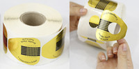 Wholesale Professional Nail Art Tool Tips Golden Extension Forms Guide French Acrylic UV Gel
