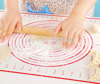 Wholesale 40 cm Large size of silicone baking mat attach scale Kneading dough mat non stick Silicone baking rolling pastry mat