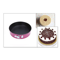 bakery pans - 3pcs Set of Three Springform Pans Cake Bake Mould Mold Bakeware with Removable Bottom Round Shape Bakery Cooking Tools