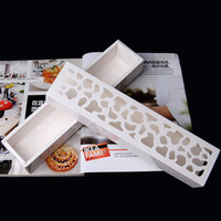Wholesale 2015 New Arrival Diy Macaron White Slitless Cutout Macaron Box West Box Chocolate Box Rectangle Cake Box