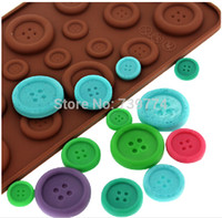 baking wilton - 19 Buttons Silicone Molds Fondant Gel Mould DIY Chocolate Pudding Wilton Cake Decal Ice Kitchen Pastry Baking Tools