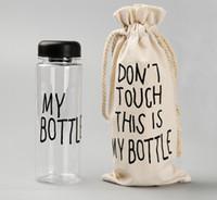Wholesale My Bottle With Sack Bag Fashion Water Bottles Sport Readily Tea Cup ML TRITAN BPA FREE LEAK PROOF