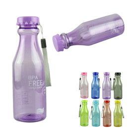Wholesale-New Fashion 550ml BPA Free Cycling Bicycle Bike Sports Kettle Unbreakable Plastic Water Bottle Outdoor Travel 1pcs Quality First