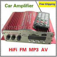 Wholesale HiFi USB SD MMC FM Motocycle Amplifiers support MP3 player Car Amplifiers home PC audio amplifier