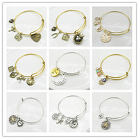 Wholesale New Vintage Gold and silver Alex and Ani Family Distaffer Bangle Bracelets For Women Fashion womenJewelry ALEX