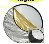 Wholesale 110cm quot in Light Mulit Collapsible disc Reflector