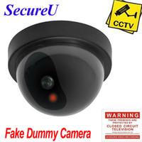Envío libre sistema de circuito cerrado de televisión de vigilancia falso señuelo seguridad ficticia emulational uso doméstico de interior cámara domo de vídeo más barato instalar