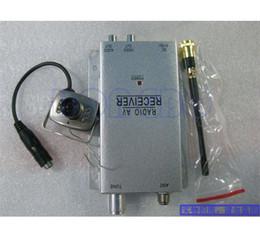 wholesale 4pcs lot Wireless Mini pinhole micro CCTV security surveillance A V audio 6 IR LED RC Camera 1.2Ghz receiver kit