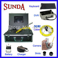 audio pipe - 50m cable with keyboard with DVR audio amp video recording quot LCD monitor mm camera pipe inspection camera