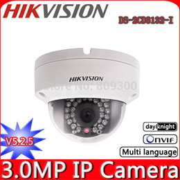 2015 New Original HIKVISION DS-2CD3132-I 3.0Mp V5.2.5 1080P Full HD ONVIF Outdoor Mini Dome IR Network IP Camera,Support PoE