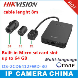 Wholesale Hikvision DS CD6412FWD multi language firmware MP WDR tube network camera support audio alarm IO support sd card store