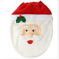 bathroom commodes - Santa Toilet Seat Cover and Rug Commode Bathroom Set Christmas Decoration set