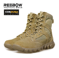 Wholesale 8 quot Puncture Resistant Military Combat Boots Men s Lightweight SWAT Work Tactical Shoes Outdoor Hiking Camping Climbing Army Boot