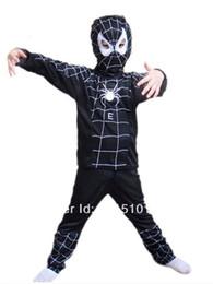 Araignées noires en Ligne-Livraison gratuite noir araignée homme costume spiderman costume araignée homme cosplay costume enfant araignée homme costume Halloween noir AT-56
