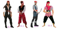 Cheap Adult Hot Sale Various Fashionable Pirate Costumes For Cosplay Party free shipping
